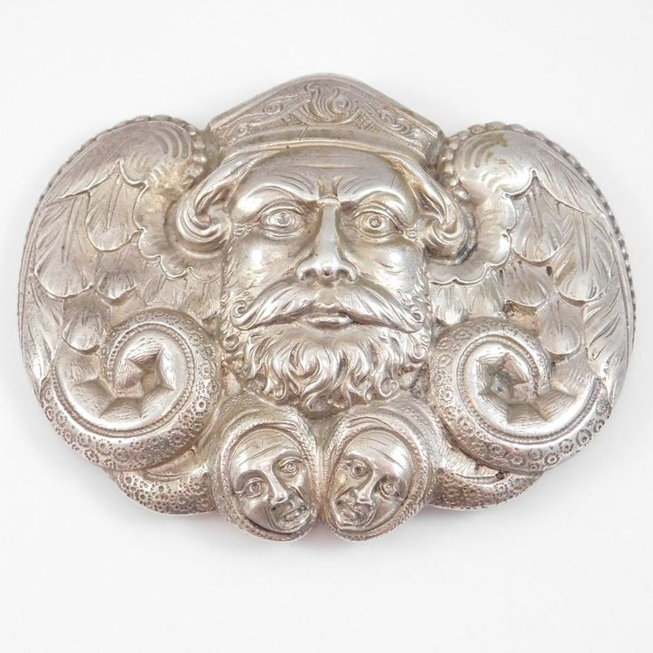 ANTIQUE 830S NORWEGIAN VIKING BUCKLE BY C&S CIRCA 1920