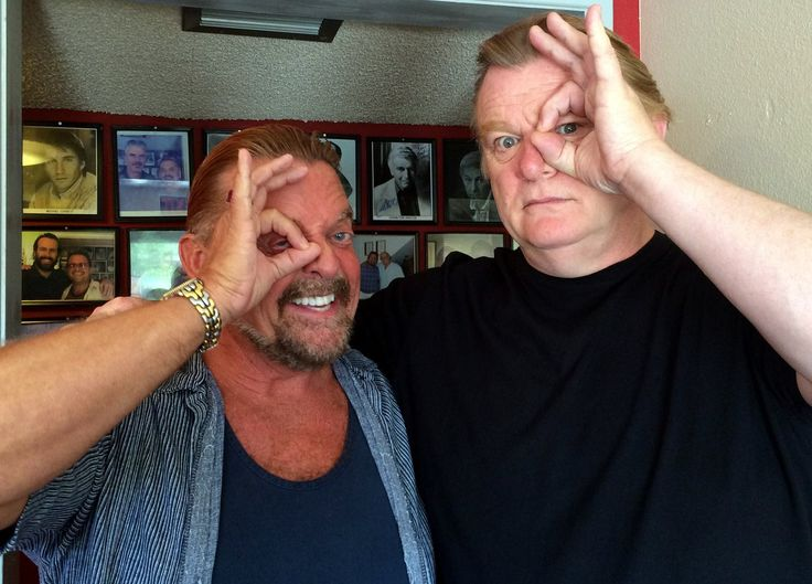 For all you Harry Potter fans…..started Monday morning with the wonderful character actor, Brendan Gleeson (Mad-Eye Moody)from the Harry Potter films….it's going to be a magical week!!!! — with Brendon Gleeson.