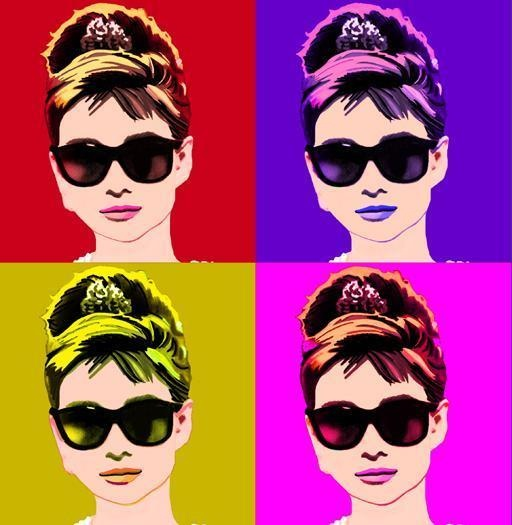 Warhol? .. idk about that. But, it's warhol-ish.. I cant have this in my room or i'll have 6 audreys, that'd be creepy