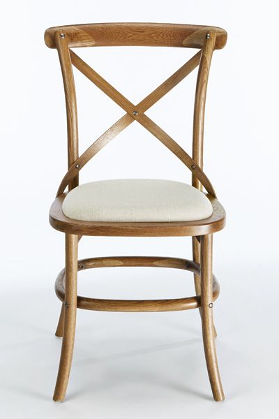 Cafe Chair with Linen Seat