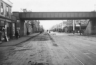 Victoria St, Richmond, West Side Bridge , 1920s Melbourne Australia