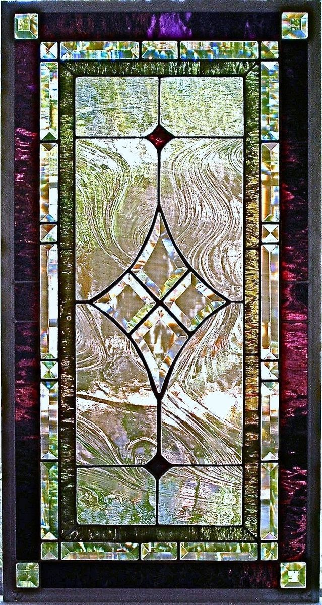 5 Panel Window : Custom made traditional stained glass window panel