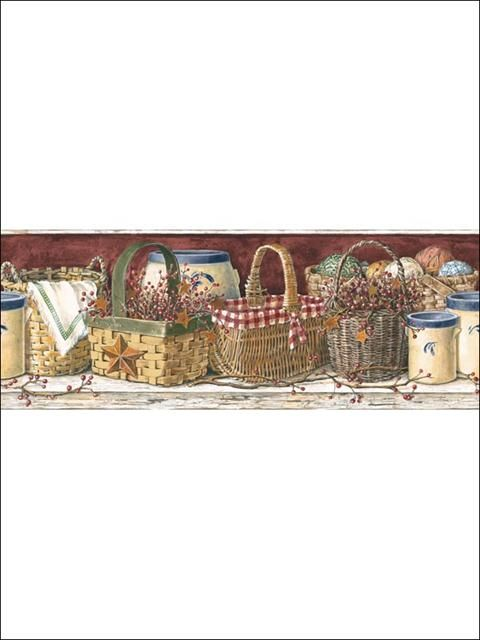 Basket Border - PC3963DDMP from Mural Portfolio II book