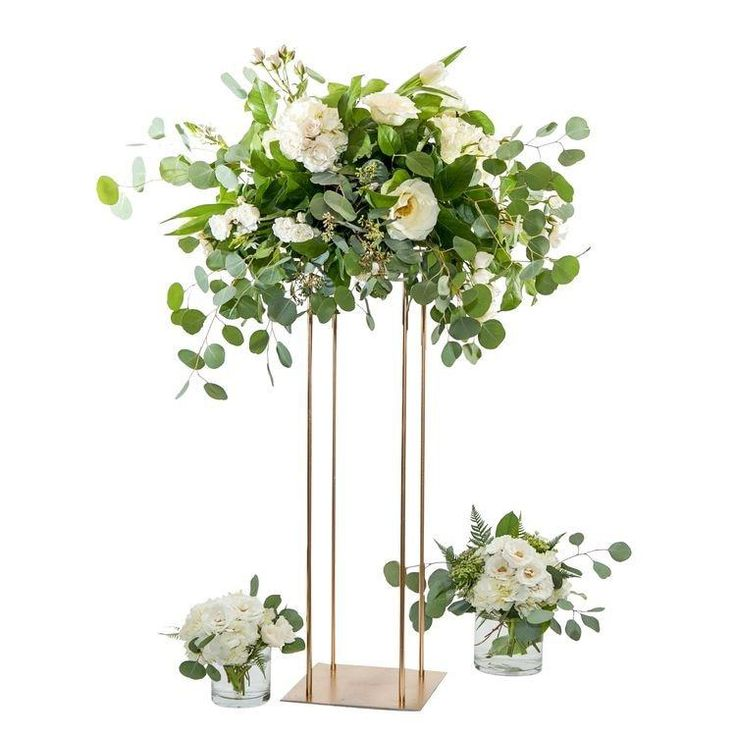 Wedding Flowers Centerpieces Cost: New Style Wedding Metal Gold Flower Vase Column Stand For
