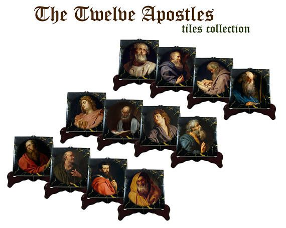 Religious gifts  Twelve Apostles tiles collection  TwelveA new very special tile collection is available now in my #Etsy store. The Twelve #Apostles - the images were inspired by Peter Paul Rubens' paintings. Available in 2 different sizes. Free shipping to selected countries. >>> https://www.etsy.com/listing/527472373 <<< #catholic #catholicism #faith #pray #prayforus #prayer #christian #christianity #religious #art #handmade #etsyfinds #etsyseller