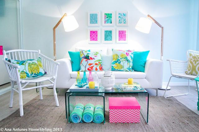 Bright & fun colors. Possible girls lounge Home | Classica Decor Blog - Part 4