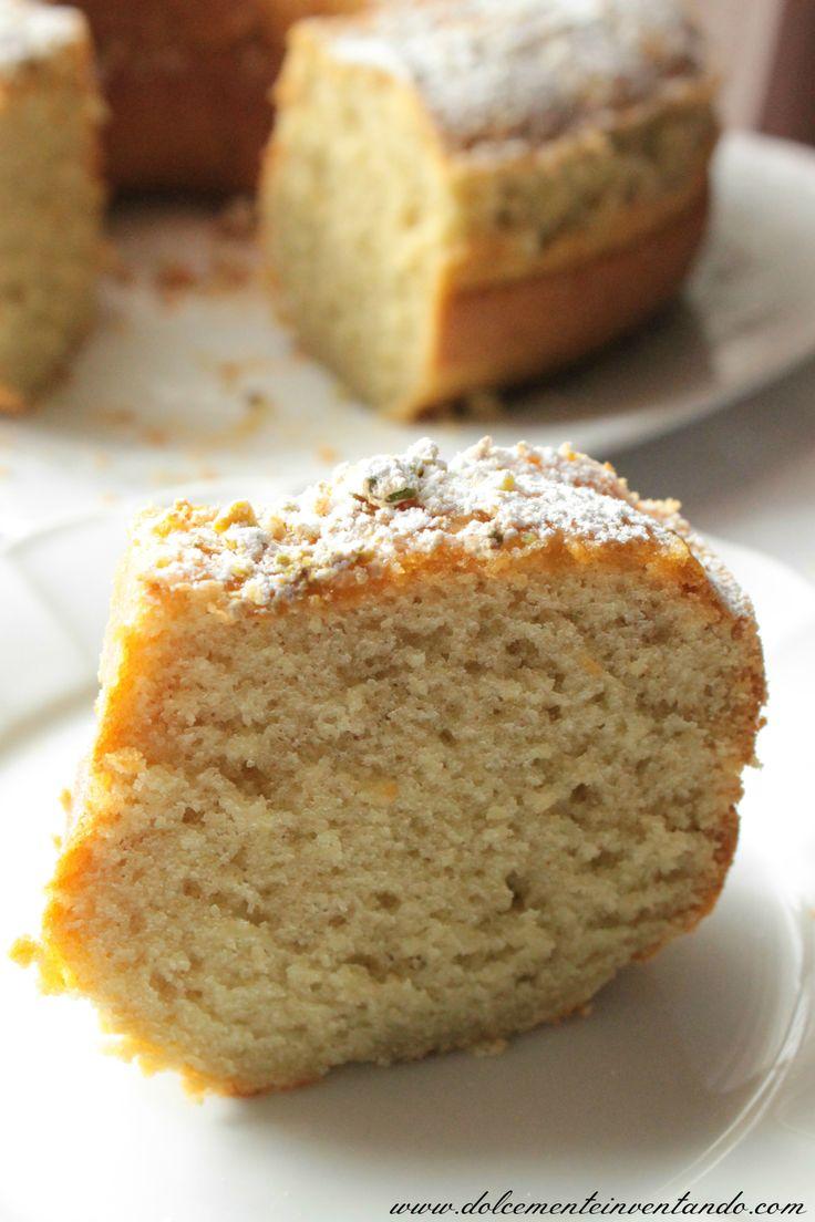 Pistachio & hot water bundt cake