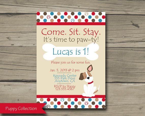 Puppy Birthday Party Invitation Printable By HarkenStudio 1000