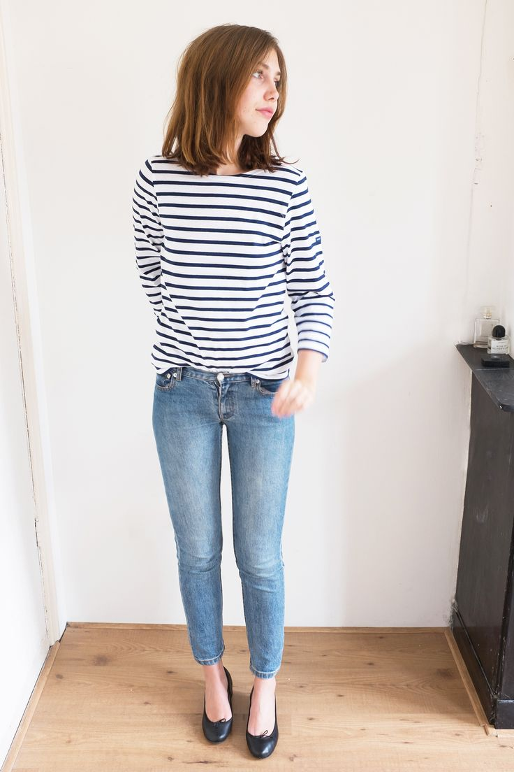 Saint James Striped Top 'Galathee' Outfit - More on www.sartreuse.com