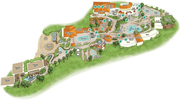 Map & Amenities - Glen Ivy Hot Springs