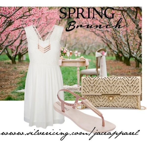 Spring Brunch by jace-apparel on Polyvore featuring garden, Spring, tea, brunch and SpringStyle