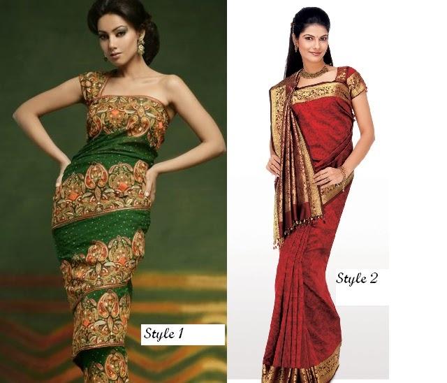 saree draping styles - Google Search