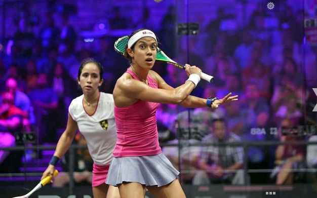 Don't be afraid to move your hand up an down the grip. In this photo you can see how high Nicol's hand is up the shaft of the racket which gives her more control.  #‎squash #‎SquashSkills #‎Salming #‎TeamSalming #‎psa #‎psaworldtour