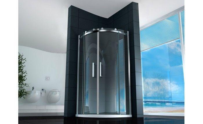 Box doccia semicircolare 8mm cristallo trasparente opaco