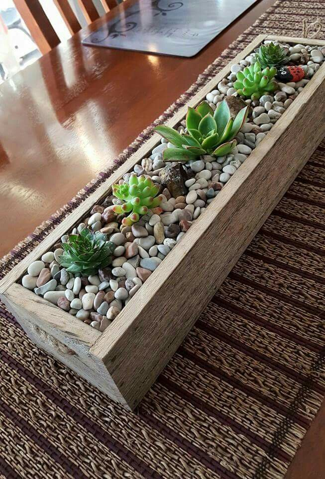 Succulent table piece