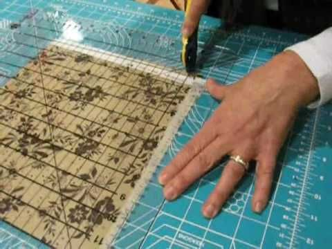▶ Como cortar las telas para el perfecto patchwork a máquina - YouTube