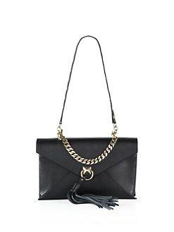 Sonia Rykiel - Pyramid Leather Envelope Clutch
