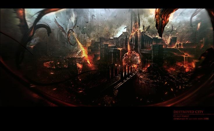 Destroyed City (Guild Wars 2) | thefirstcolor  Si vous voulez acheter le jeu pour 54,84€ cliquer sur l'image.