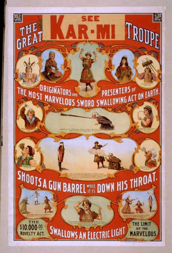 Vintage The Great Troupe Circus Poster CIRCUS0592 Art Print Canvas A4 A3 A2 A1