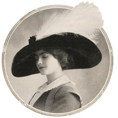 First portrait of Gabrielle Chanel with one of her own hats published in the theatre magazine 'Comoedia Illustre', October 1910.