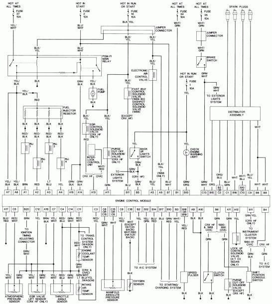 1992 Honda Civic Ex Wiring Diagram in 2020 | Honda civic ...