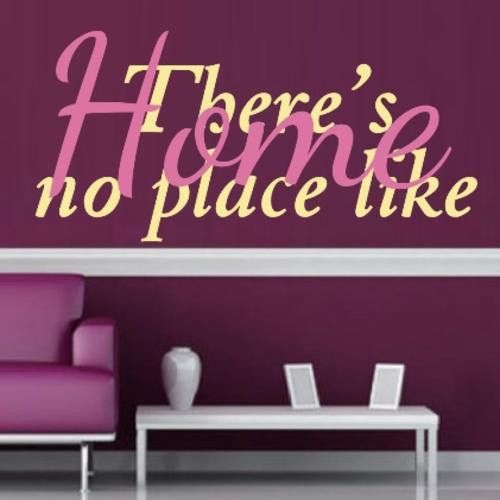 VINYL DECAL NO PLACE LIKE HOME INSPIRATIONAL QUOTE 2 WALL ART STICKER