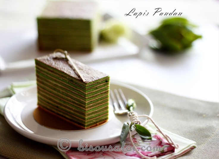 Bisous À Toi: lapis pandan cake