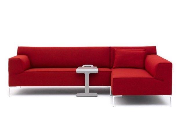 Design hoekbank Bloq in het rood