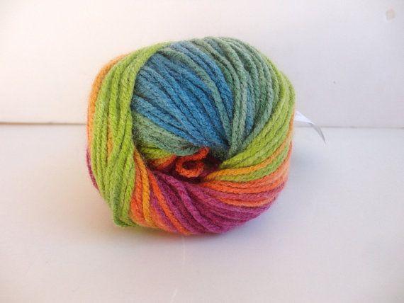 rainbow acrylic yarn batik design yarn Alize batik by yarnsupplies, $4.75