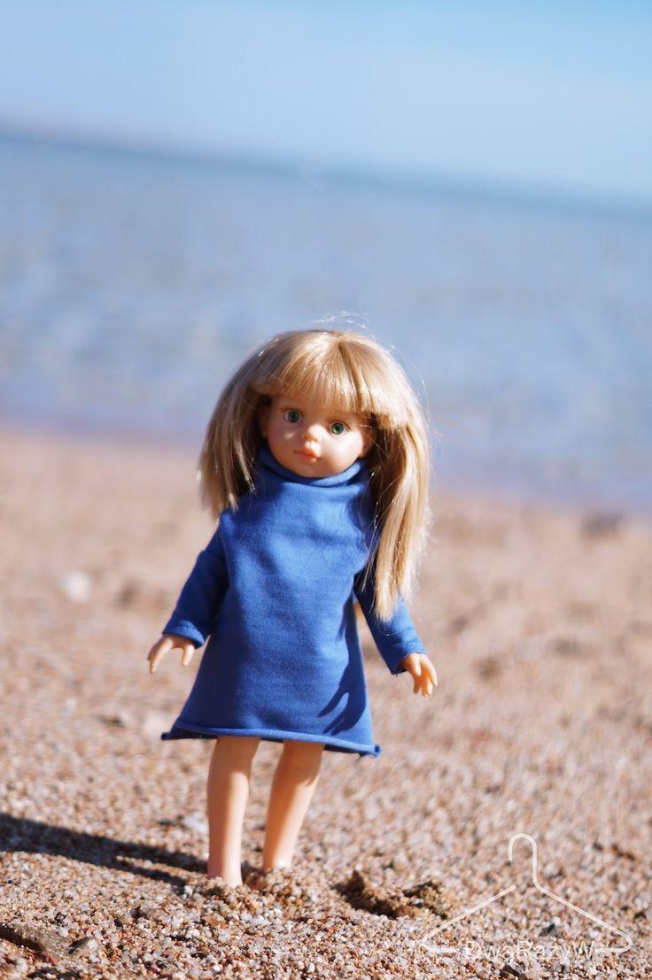 La Lalla doll, puppe, lalka. Denim casual turtle neck dress. #toys #girl # #puppe #custom #gadget #gift #geschenk