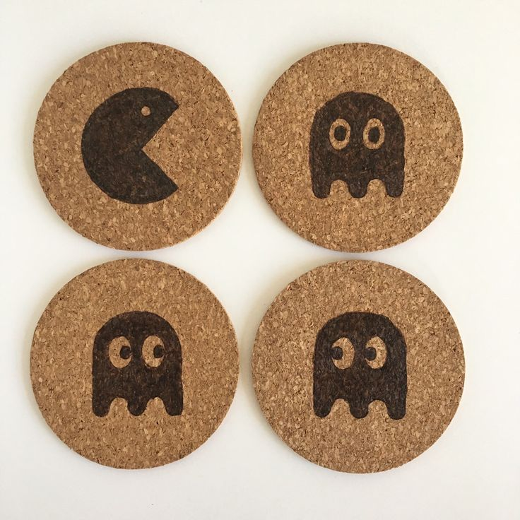 Pacman Coaster Set by HuckleberryHaven on Etsy https://www.etsy.com/ca/listing/278580558/pacman-coaster-set