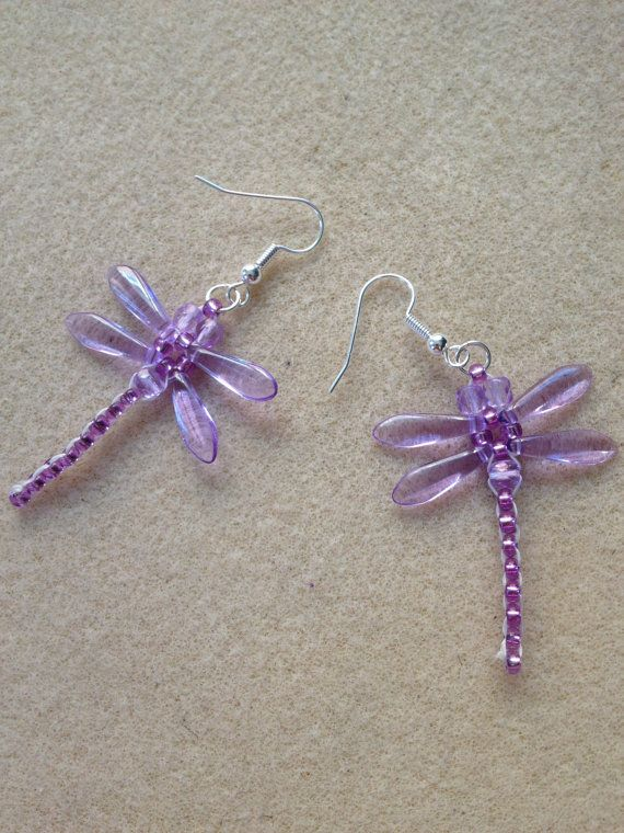 Beaded Dragonfly Earrings by jewellerybyalexandra on Etsy, £6.95                                                                                                                                                                                 More
