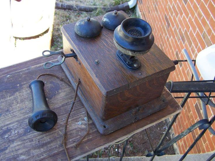 Antique Rare L. M. Ericsson Crank Wall Telephone  Price:US $3,985.99