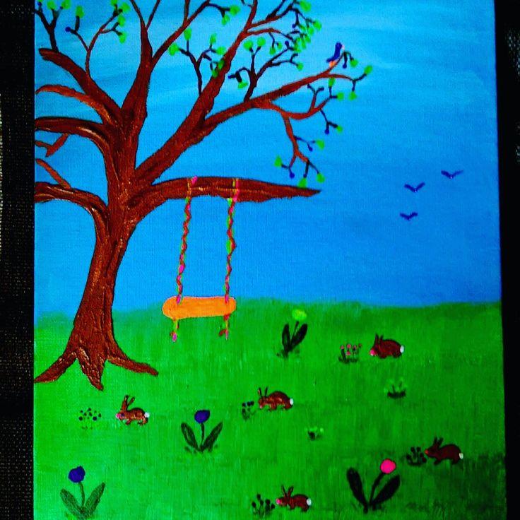 Acrylic art by Pamela Kay Morgan
