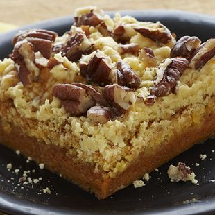 Pumpkin Pie Crunch: You can have all the taste of pumpkin pie made with our most popular Duncan Hines Classic Yellow Cake Mix. Such an easy and delicious dessert as Pumpkin Pie Crunch deserves to be served all year long.
