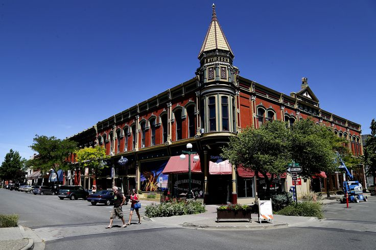 Downtown Ellensburg's landmark Davidson Building was completed in 1889, the year Washington became a state. In its early days, Ellensburg was in the running to be the state capital. Today, it's the Kittitas County seat and a lively college town steeped in history, art and good food. (Johnny Andrews/The Seattle Times)