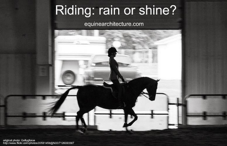 Are you a rain or shine rider?