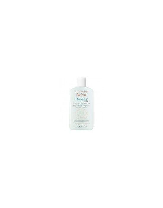 AVENE CLEANANCE HYDRA CREME LAVANTE APAISANTE 200ML Η καταπραϋντική κρέμα καθαρισμού Cleanance HYDRA καθρίζει την επιδερμίδα με σεβασμό στην στην ευαισθησία του αφυδατωμένου και ερεισμένου δέρματος από τη φαρμακευτική θεραπεία κατά της ακμής Εφαρμογή Εφαρμόστε την πρωί και βράδυ σε υγρό πρόσωπο κάνετε αφρό με νερό ξεπλύνετε με άφθονο νερό και στεγνώστε το δέρμα Ψεκάστε αν χρειάζεται με το Ιαματικό νερό της Avene Προϊόν με σκοπό τη μείωση του κινδύνου εμφάνισης αλλεργικών αντιδράσεων