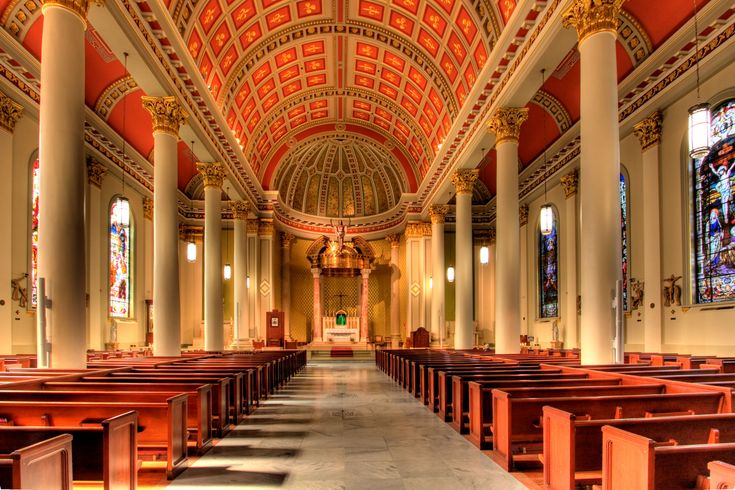 the cathedral basilica of the immaculate conception is a stunning church that towers over the. Black Bedroom Furniture Sets. Home Design Ideas