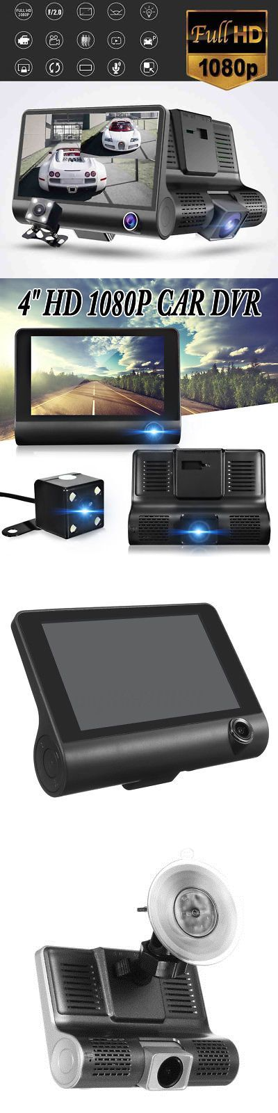 Digital Video Recorders Cards: Dual Lens 4 Hd 1080P Vehicle Car Dash Cam Rear Video Recorder Dvr + Camera -> BUY IT NOW ONLY: $46.99 on eBay!