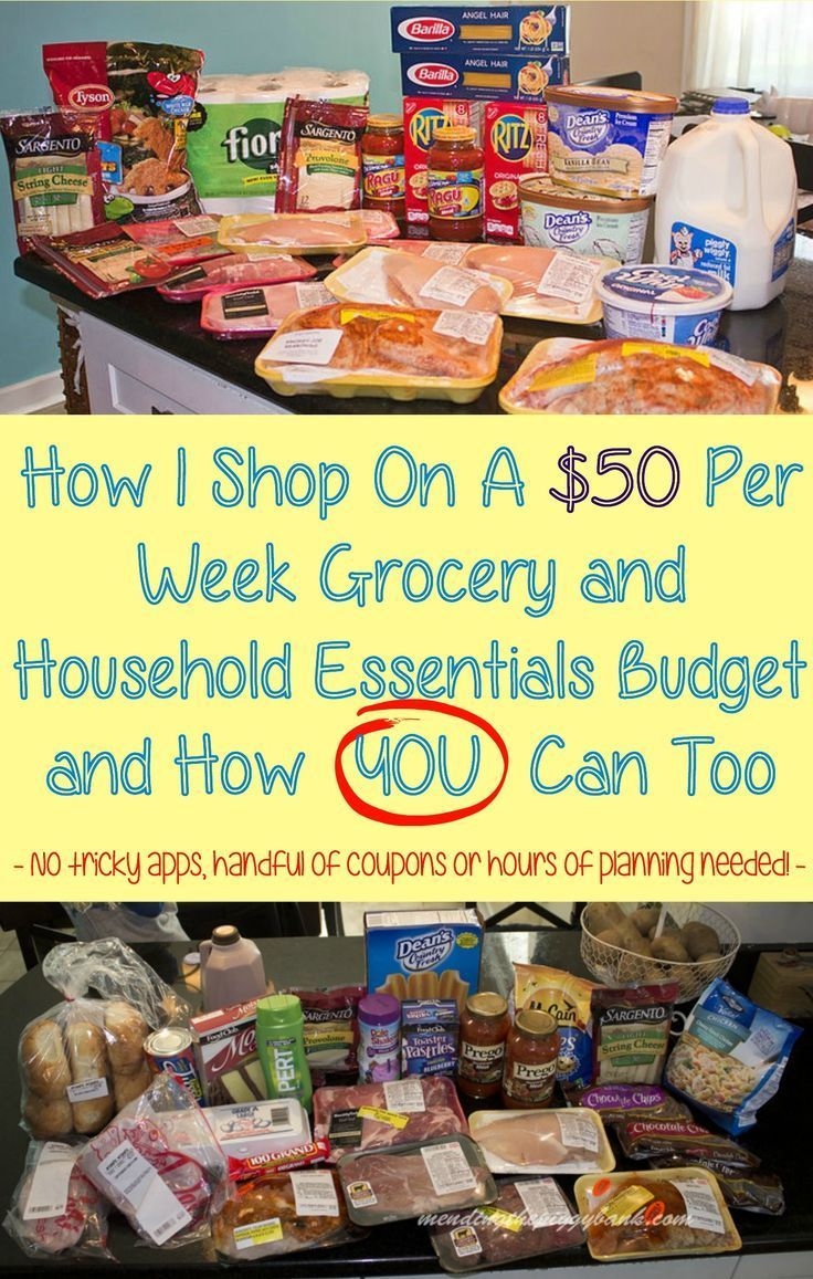 How I Shop On A $50 Per Week Grocery and Household Essentials Budget and How YOU Can Too -- Every week I shop on a $50 grocery and household essentials budget. Today, I have tips to advise you how to achieve a long-term grocery budget goal as well. -- No Tricky Apps, handful of coupons or hours of planning needed!