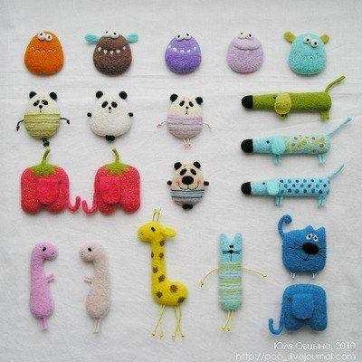 Игрушки из шерсти Юлии Овцыной