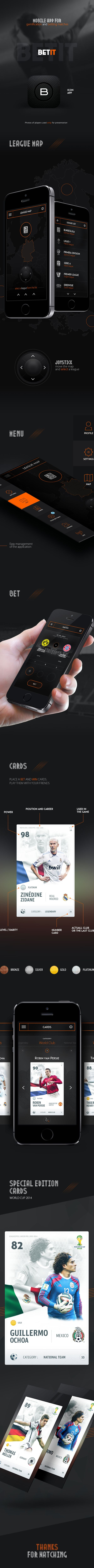 Betit Mobile App - Football by Karol Kos, via Behance