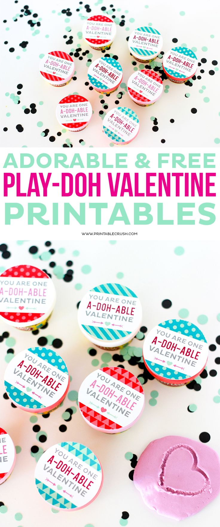 Adorable and FREE Play doh Valentine Printables 246