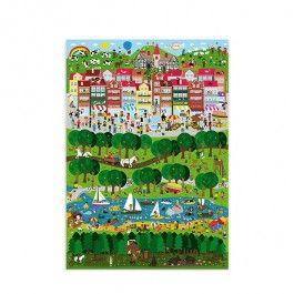 `Stadt Land Fluss` Poster - gestaltet vom Human Empire Studio. Eine Wahnsinnsstadt in der eine Menge passiert. Ideal für Kinder! Es gibt viel zu entdecken! Aber auch für Rummelbildliebhaber wie uns… P.S. Ach - das heißt ja Wimmelbildliebhaber…• Größe: 50 x 70cm• 4-Farb-Offsetdruck• Material: 250g/m² Offsetpapier• gerollter Versand im Folienschlauch