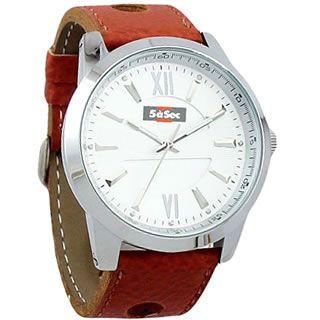 Relógio de pulso 7228, Modelo Masculino. Caixa redonda. Mostrador soley. Acabamento níquel brilhante. Pulseira em couro. Embalagem caixinha plástica individual.