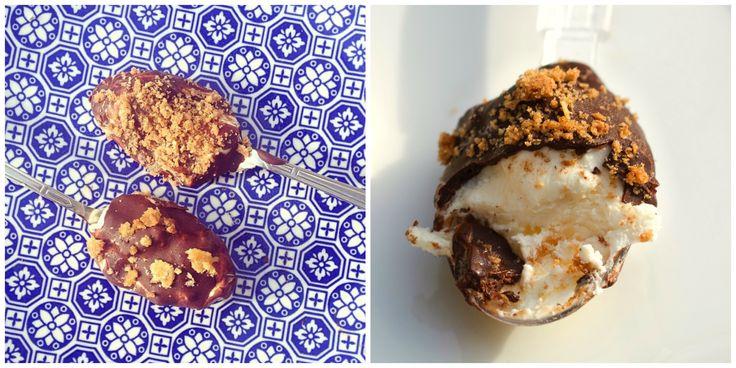 Chocoladelepel met speculaas ijs