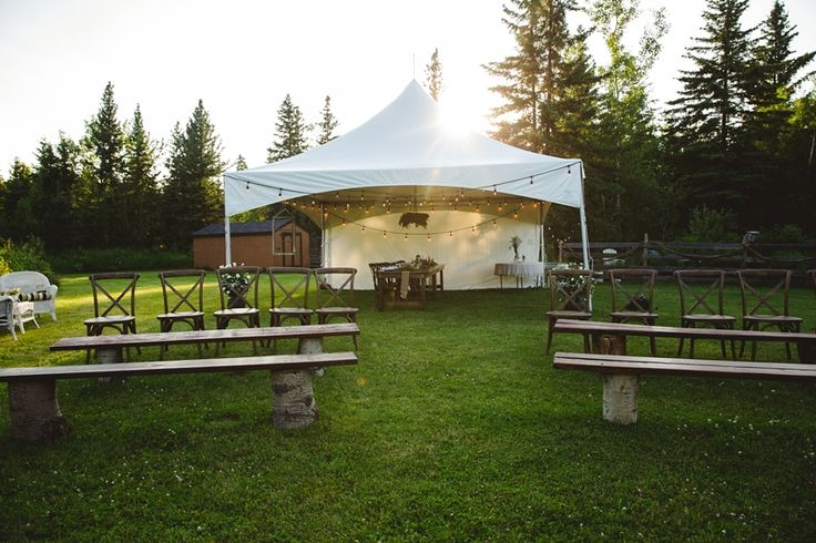 Beautiful outdoor venue setting in the forest