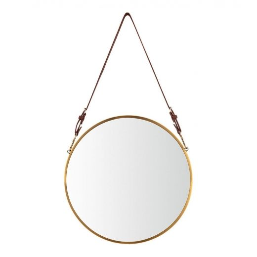 Gold Aria Hanging Wall Mirror | Modern Wall Mirrors