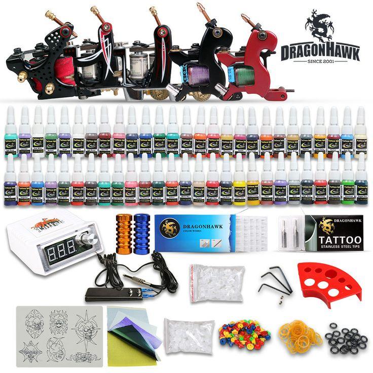 Tattoo Kit New 5 top Machine Guns Set Power Supply 54 Colors [D173-1(3)] - US$125.79 : Dragonhawk tattoo supplies, tattoo kits,tattoo machines for sale global form tattoodiy.com
